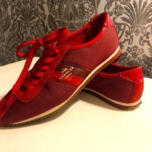 Red Coach sneaker